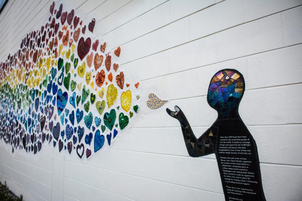 Cherie Bosela, Jennifer Kuhns, Diversity Mural Orlando, 2018